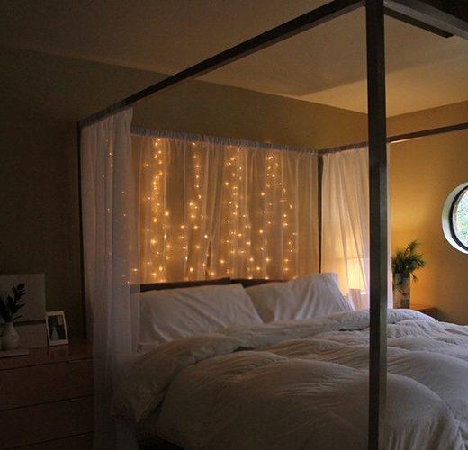 Đèn Led tạo nên một không gian yên tĩnh và thơ mộng